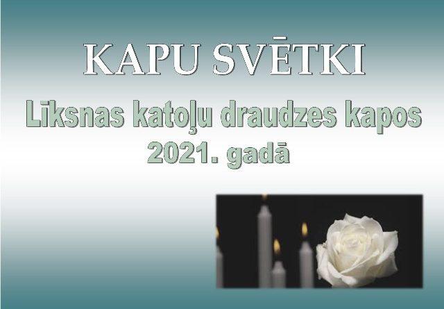 Kapusvētki Līksnas katoļu draudzes kapos 2021.gadā